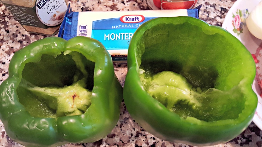 Slow Cooker Stuffed Peppers remove seeds and membranes