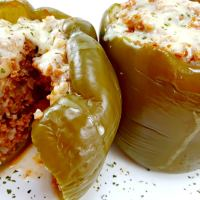 Slow Cooker Stuffed Peppers - Serves 2