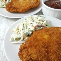 Tonkatsu and Homemade Tonkatsu Sauce for Two - crispy pork cutlet and delicious sauce!