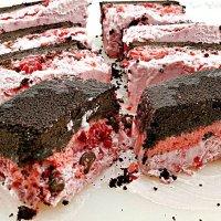 Frozen Raspberry Chocolate Cake - small batch freezer cake