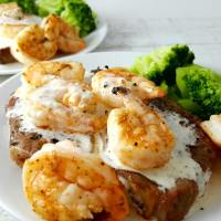 Ribeye Steak and Shrimp with Parmesan Sauce for Two - Applebee's copycat recipe