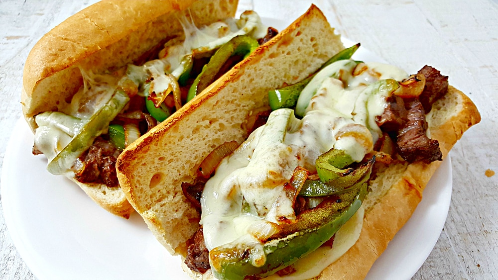 Ribeye Philly Cheesesteak Sandwiches Recipe for Two - easy and best recipe!