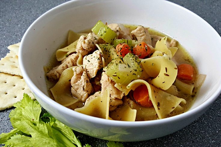 Easy Homemade Chicken Noodle Soup Recipe for Two - small batch, hearty and delicious!