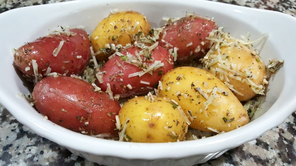 Roasted Fingerling Potatoes Recipe - toss to coat