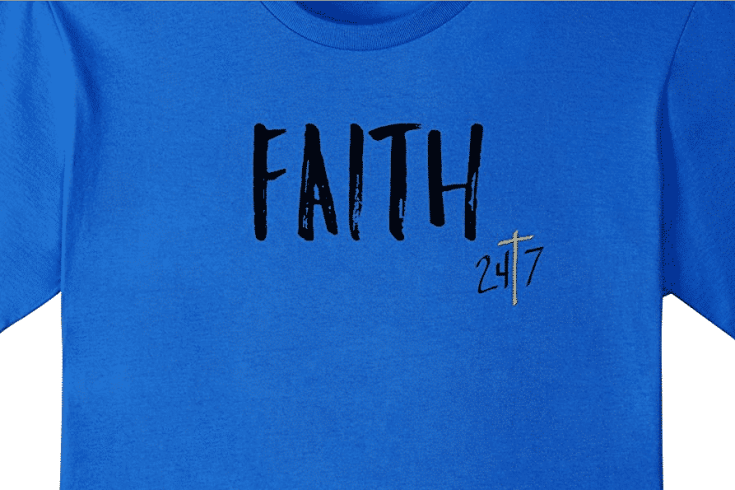 Faith 24/7 Christian Shirt - awesome Christian t-shirt