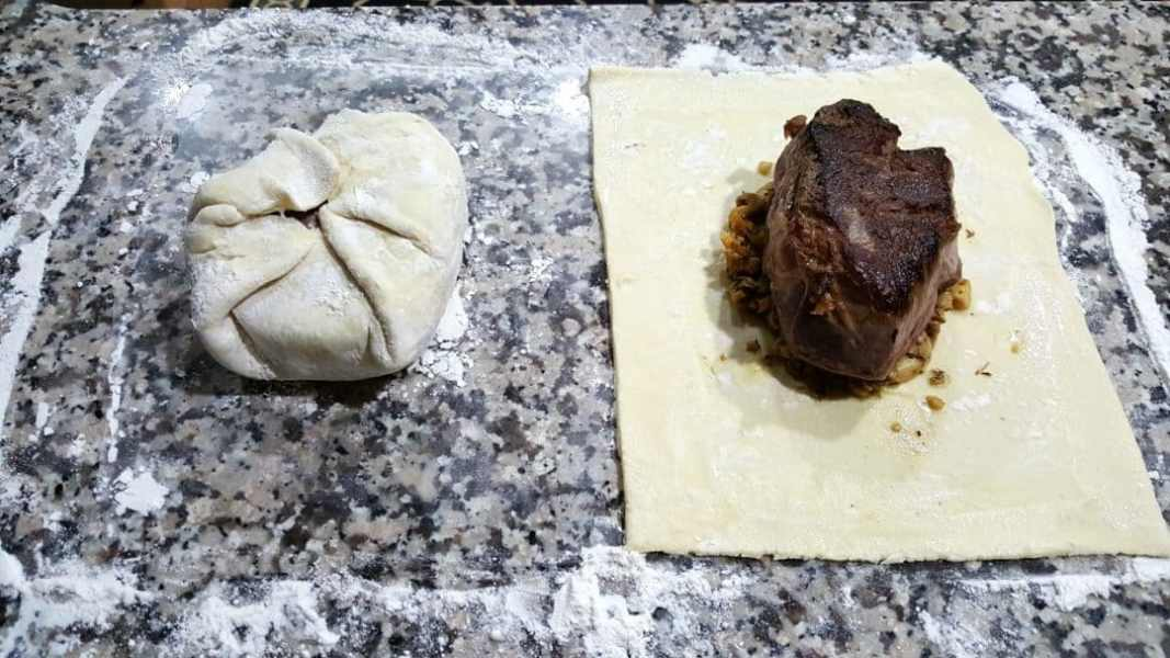 Individual Beef Wellington Recipe for Two - fold pastry up over beef