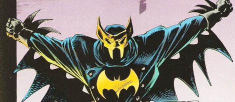 Harvey Dent como Batman. Acreditem se quiser.