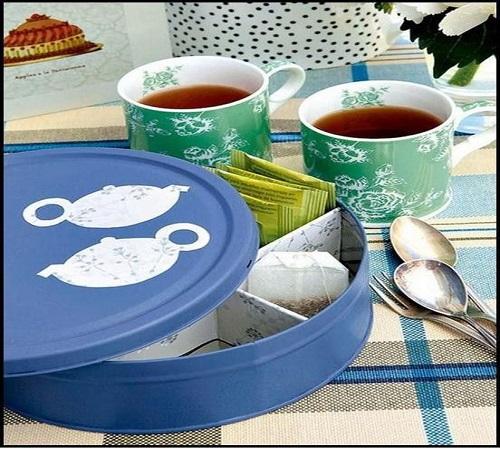 Daur Ulang Kaleng Bekas Biskuit menjadi Tea Tin Box atau Wadah Teh