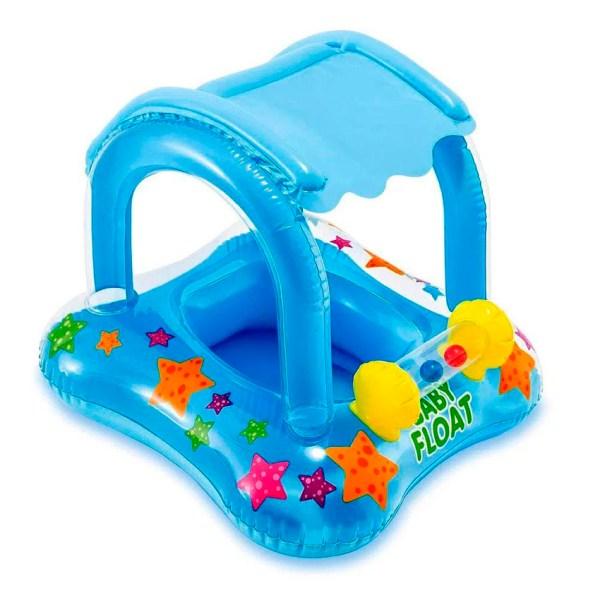 Flotador con techo para bebé Intex 56581