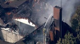 El incendio destruyó gran parte de la capilla.