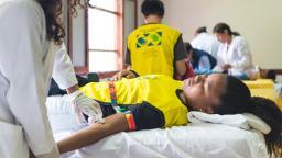 Mormones en Perú realizaron una exitosa donación de sangre. Fotos cortesia www.noticiasmormonas.org.pe
