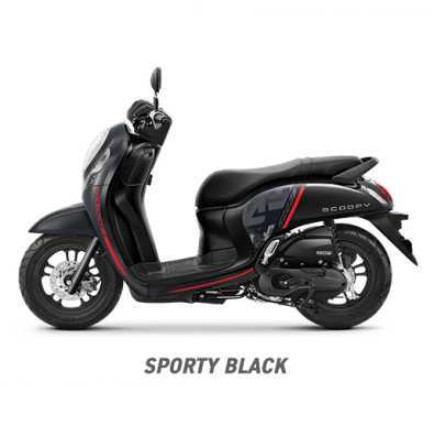 All new Scoopy Sporty Black