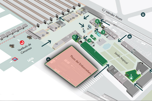 Estacion De Atocha Mapa.Adif Inaugura Un Aparcamiento Para 110 Vehiculos Y 24 Motos
