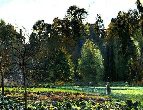 Camille Pissarro. Campo de coles, Pontoise. 1873