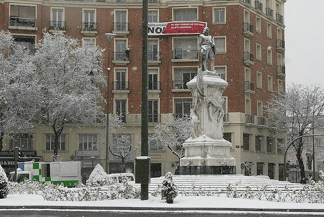 madrid nieve