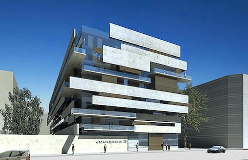 Aspecto del futuro edificio 'Juan Bravo Plaza'