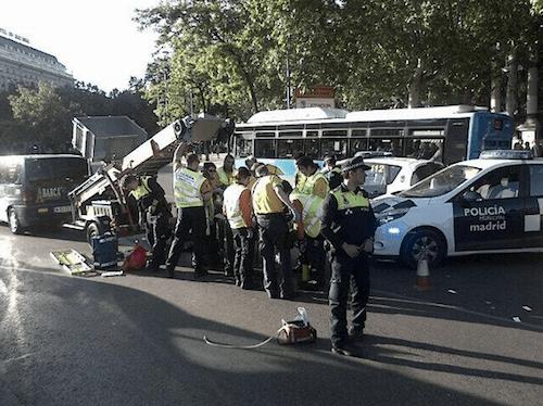 Accidente ocurrido junto a la Glorieta de Atocha - Ayto
