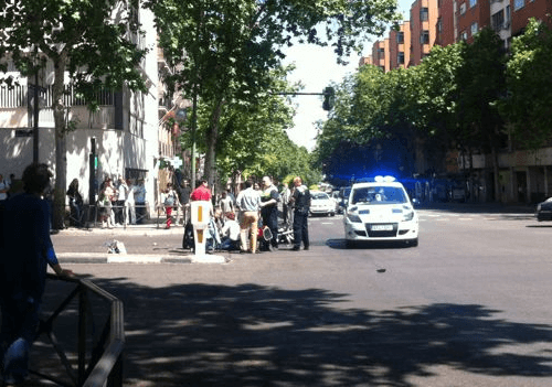 Foto tomada tras producirse el accidente, antes de llegar la ambulancia - I.C. (Zonaretiro)