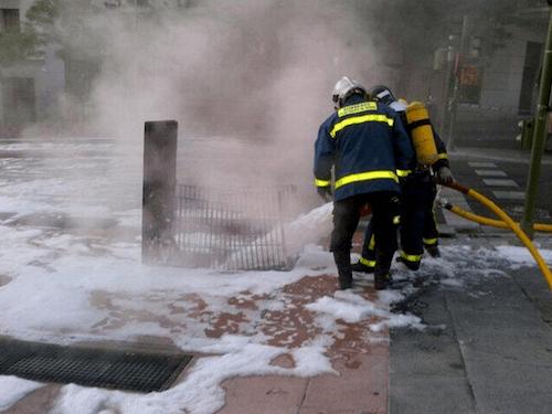 Los bomberos refrescan el transformador - Ayto