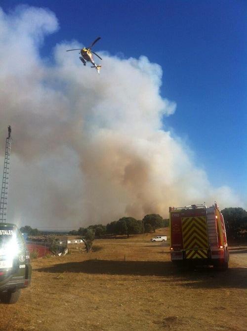 Incendio en Valdemorillo - Samur 112