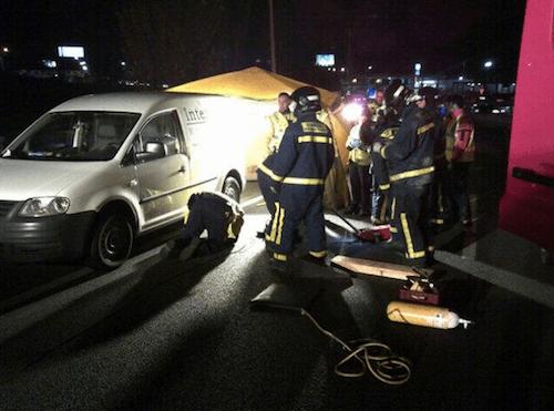 Imagen del tercer vehículo, en la incorporación - Ayto