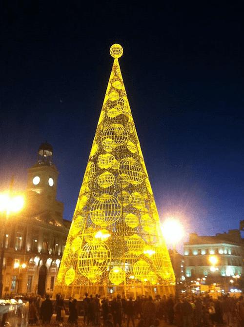Encendido del árbol de Loterías, el 12 de noviembre de 2013 - LAE