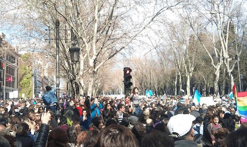 Un momento de la marcha - Foto: @MorenoG_Agustin (TW)
