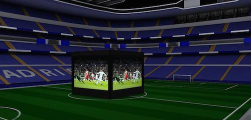 Sistema de pantallas gigantes del Berbabéu - RM
