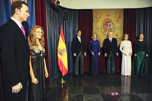 The wax figures of the Spanish Royal Fam