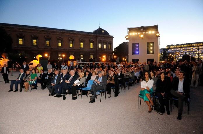 Acto inaugural del video-mapping 'España Hoy' el 8 de octubre