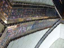 Detalle de los motivos dorados utilizados por Antonio Palacios para decorar las estaciones del metropolitano madrileño. Foto: A. Martínez Moreno