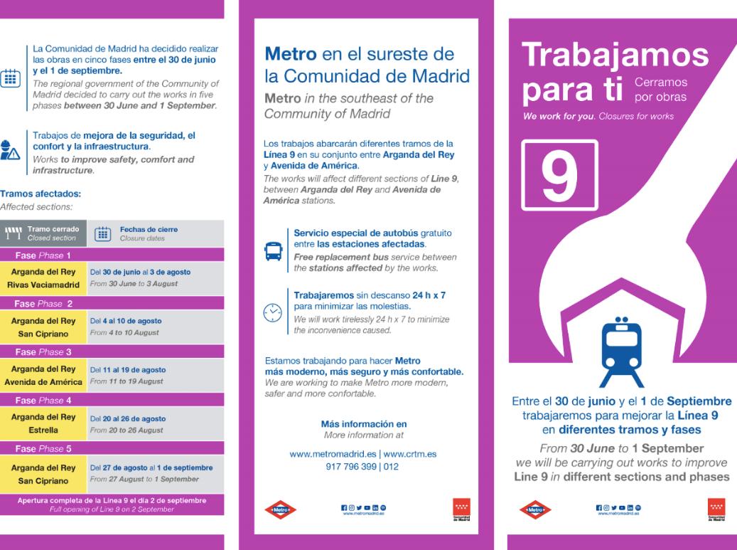Este Sábado Comienzan Las Obras En La Línea 9 De Metro Zona Retiro
