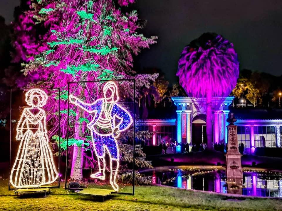 Así es el espectáculo 'Las Luces del Jardín Botánico'   Zona Retiro -