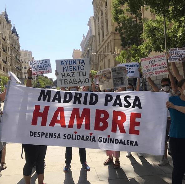 Madrid pasa hambre
