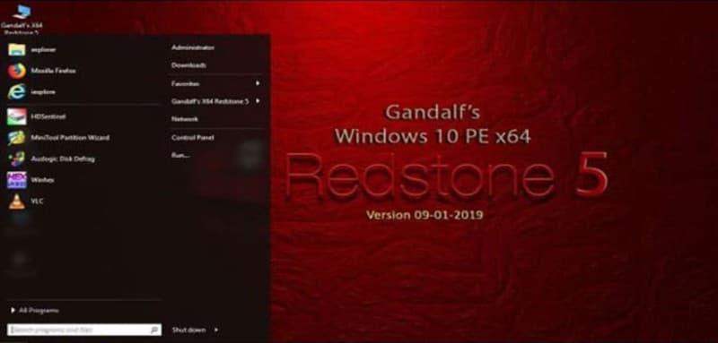 Windows 10 PE Gandalf x64 Redstone 5 (28-7-2019)