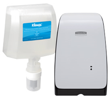 Kimberely Clark Automated hand sanitizer and liquid