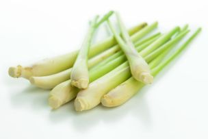 22819378 - bunch of lemongrass isolated on white background
