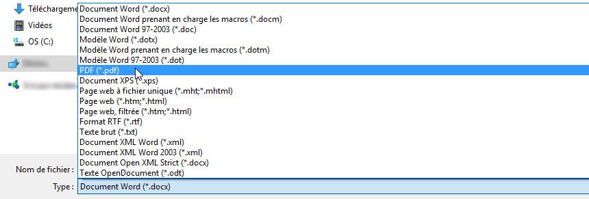 Enregistrer PDF