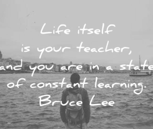 Education Quotes Life Itself Is Your Teacher And You Are In A State Of Constant Learning