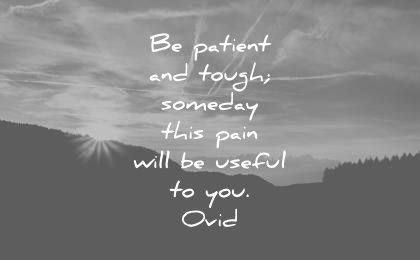 pain quotes patient tough someday will useful you ovid wisdom