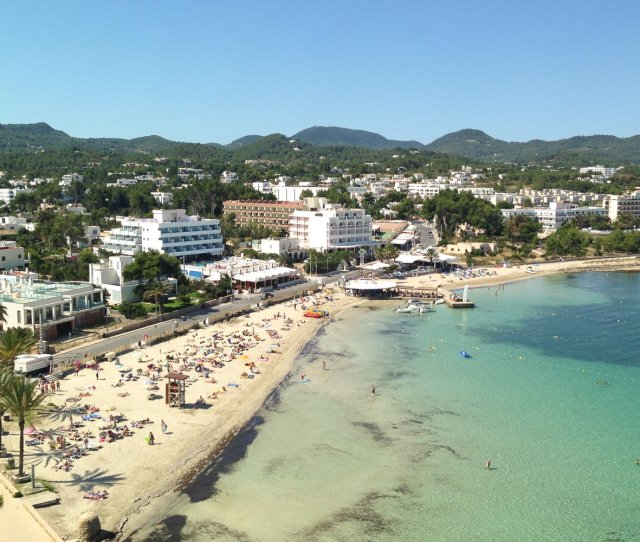 San Antonio Bay Ibiza With Five Small Beaches All Within Short Walking Distance A Stroll Along The Bay Is A Favourite Way To Start Or End The Day