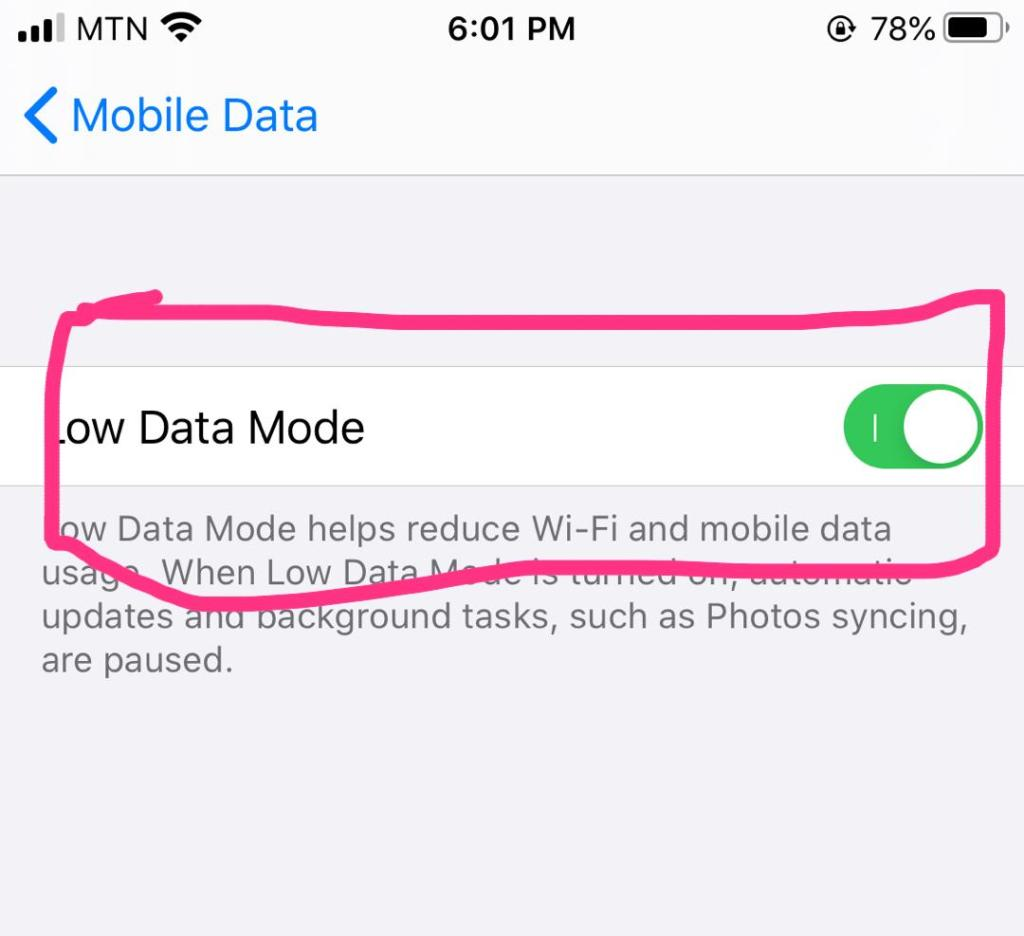Low Data Mode