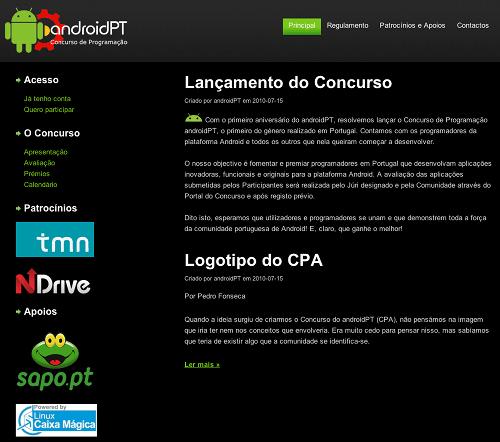 Concurso de Programacao androidPT 2010