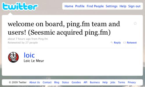 Seesmic compra Ping.fm
