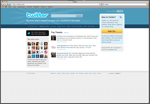 Twitter Home Page 14092010