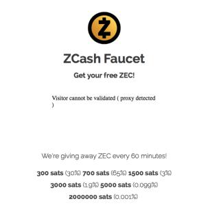 faucet Zcash