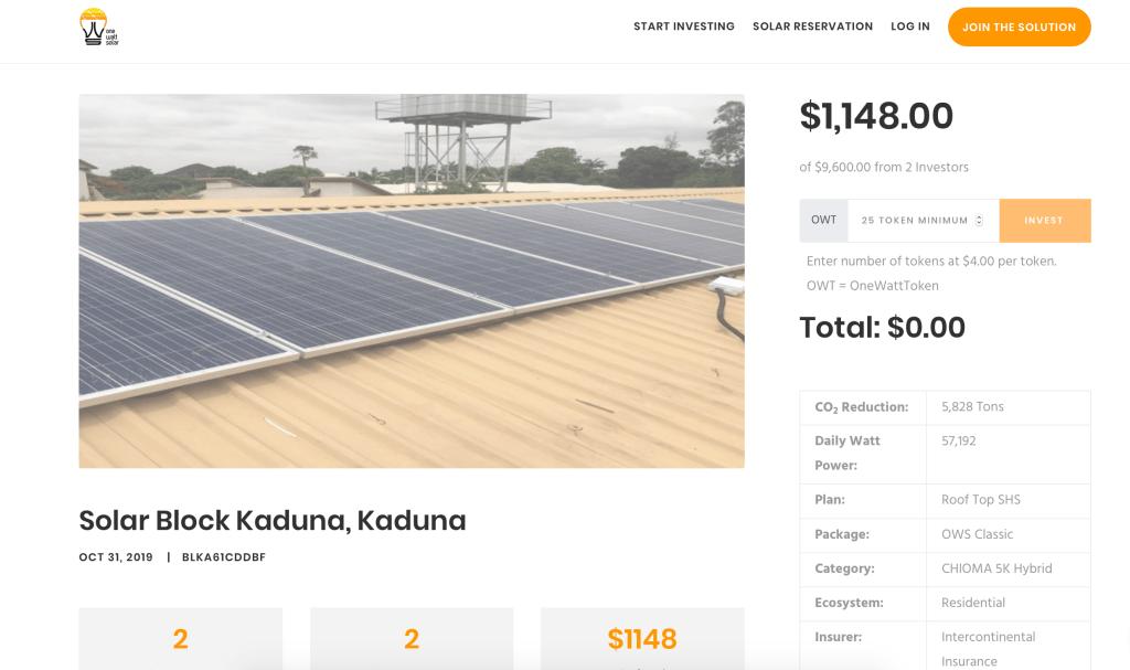électricité blokchain nigeria