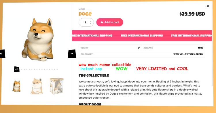 acheter figurine doge