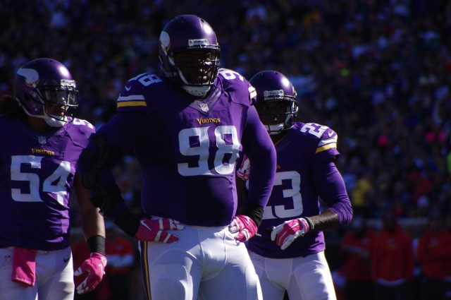 It's hard to see looking at a stat sheet, but Joseph is a big-time impact player on the Vikings defensive line. (Photo credit: Cumulus Media)
