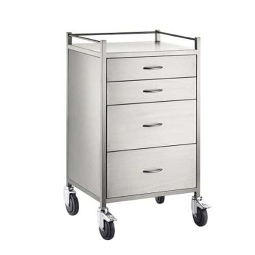 Anaesthetic-Trolley-Stainless-Steel-Four-Drawers